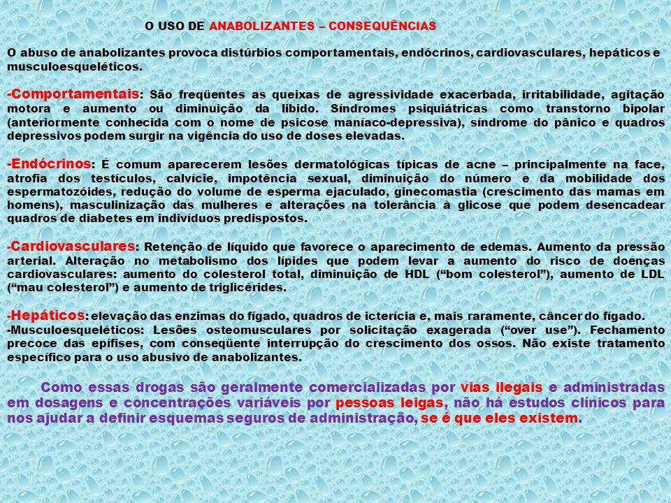 O USO DE ANABOLIZANTES – CONSEQUÊNCIAS