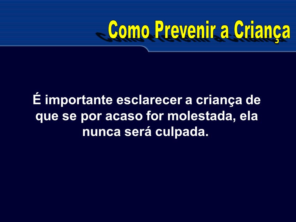 Como Prevenir a Criança