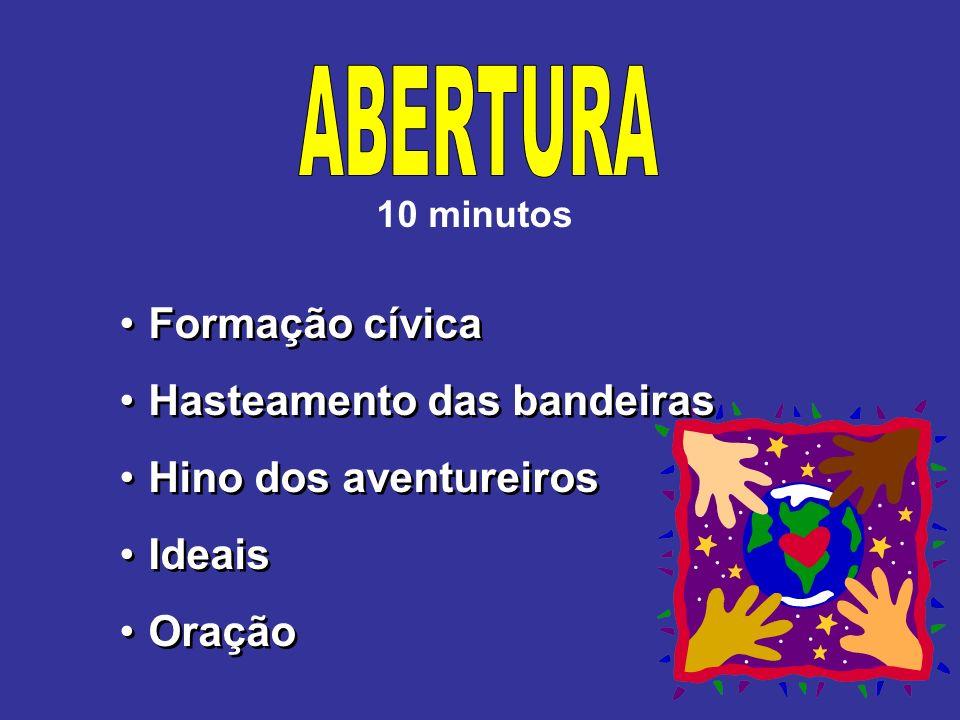 ABERTURA Formação cívica Hasteamento das bandeiras