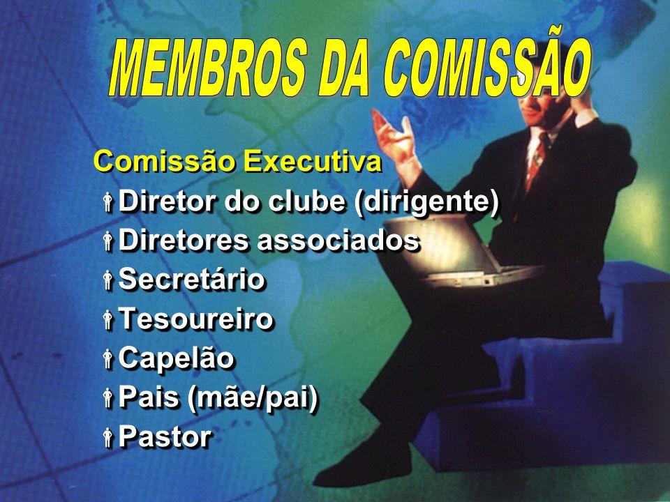 MEMBROS DA COMISSÃO Comissão Executiva Diretor do clube (dirigente)
