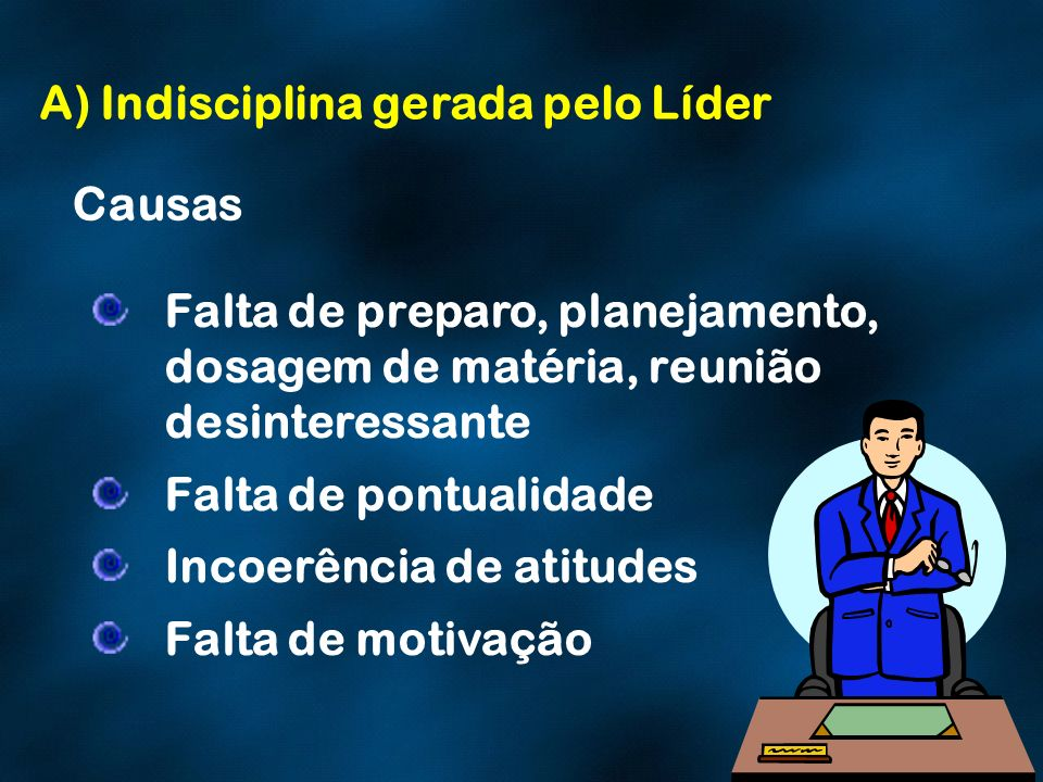 A) Indisciplina gerada pelo Líder