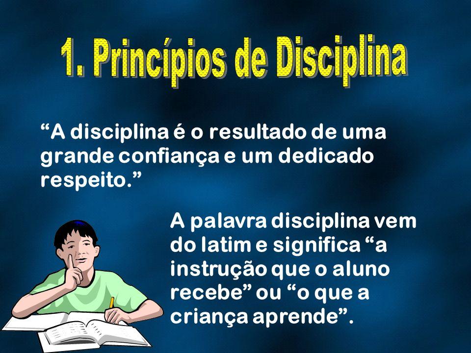1. Princípios de Disciplina
