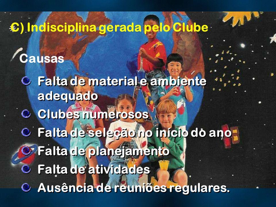 C) Indisciplina gerada pelo Clube