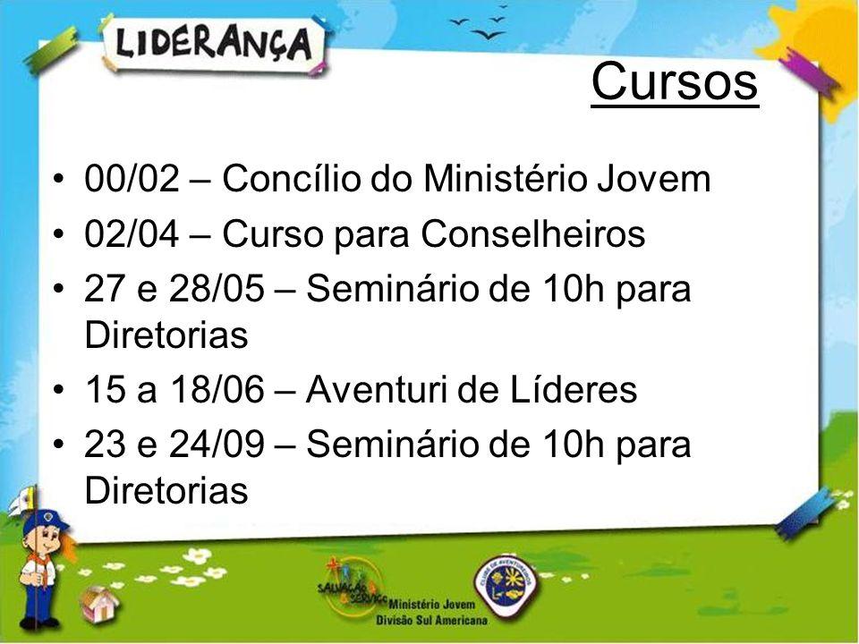 Cursos 00/02 – Concílio do Ministério Jovem