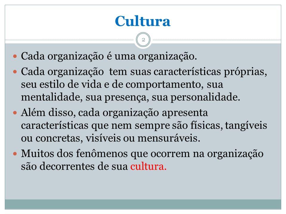 Cultura Cada organização é uma organização.
