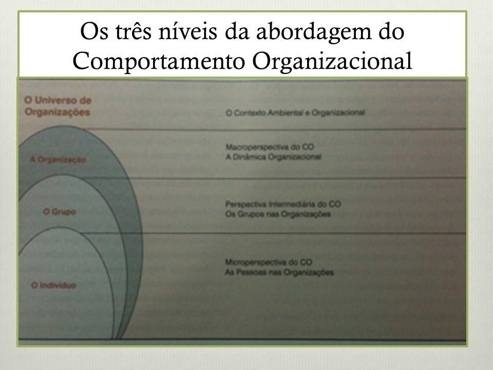 Os três níveis da abordagem do Comportamento Organizacional