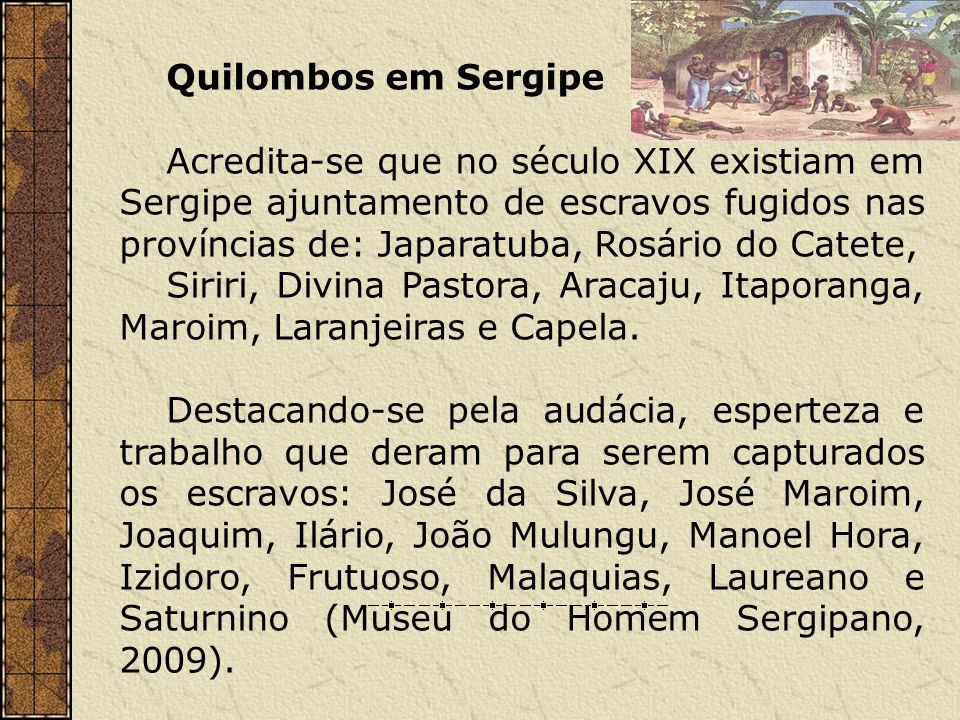 Quilombos em Sergipe