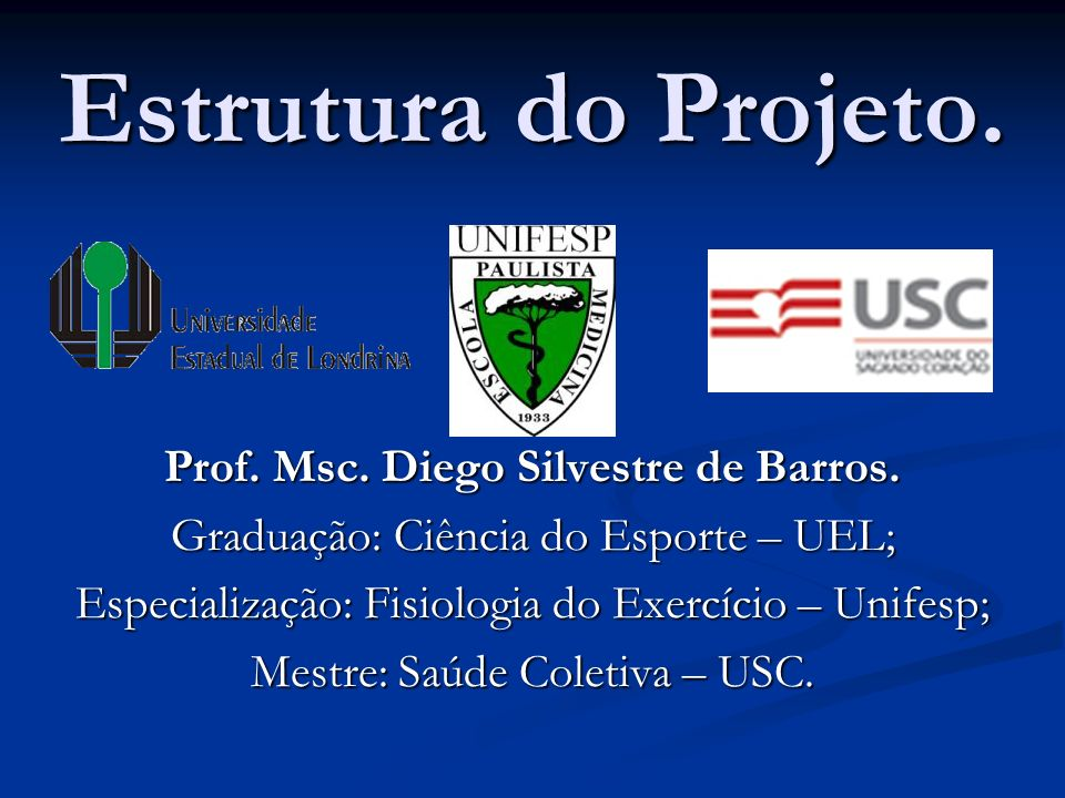 Prof. Msc. Diego Silvestre de Barros.