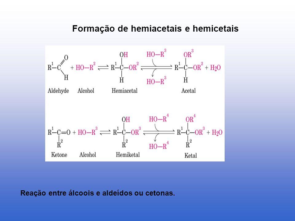 Formação de hemiacetais e hemicetais