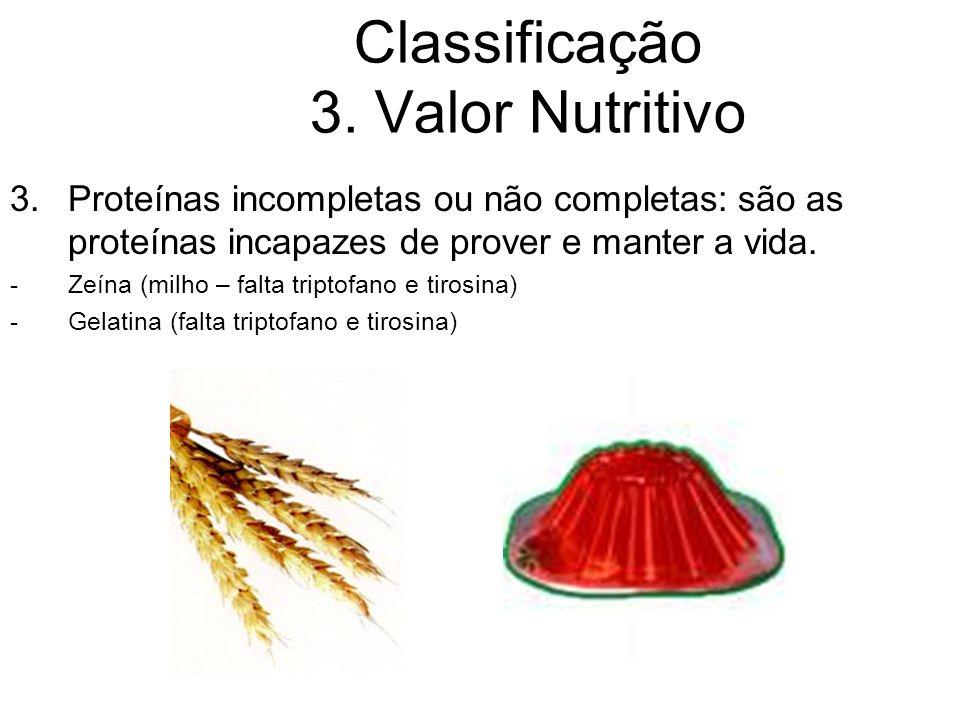 Classificação 3. Valor Nutritivo