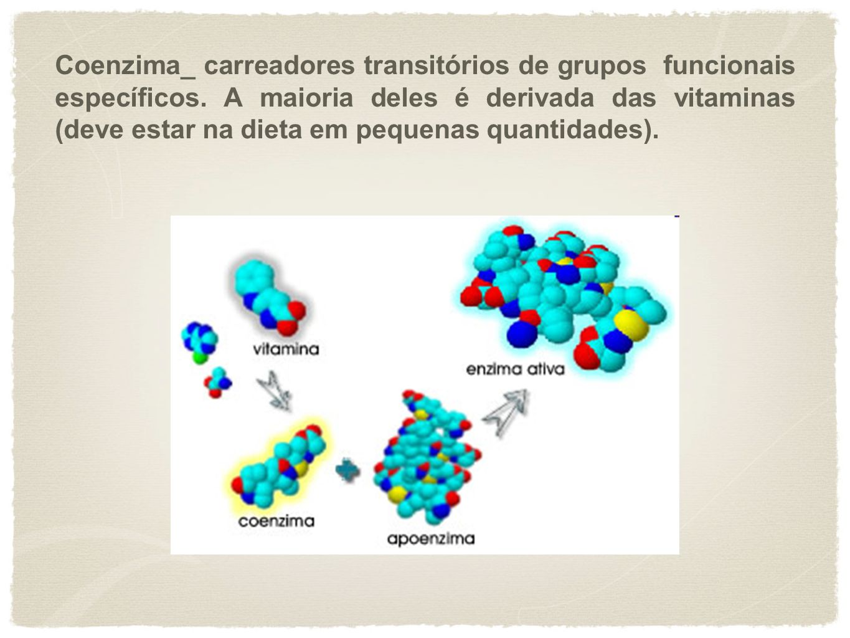 Coenzima_ carreadores transitórios de grupos funcionais específicos