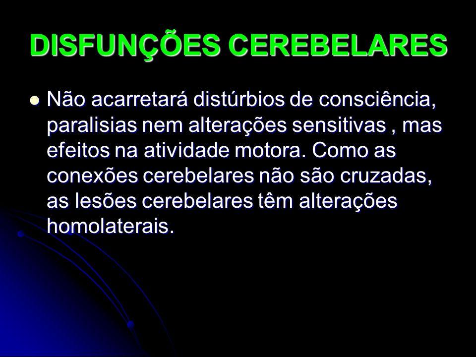 DISFUNÇÕES CEREBELARES
