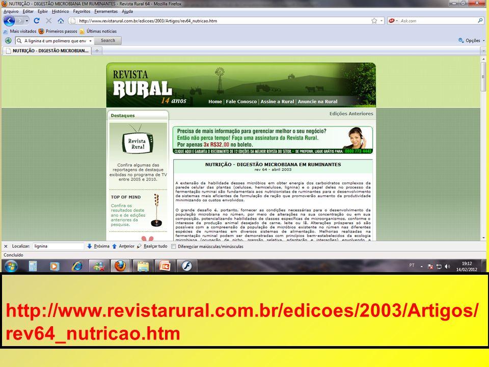 http://www. revistarural. com. br/edicoes/2003/Artigos/ rev64_nutricao