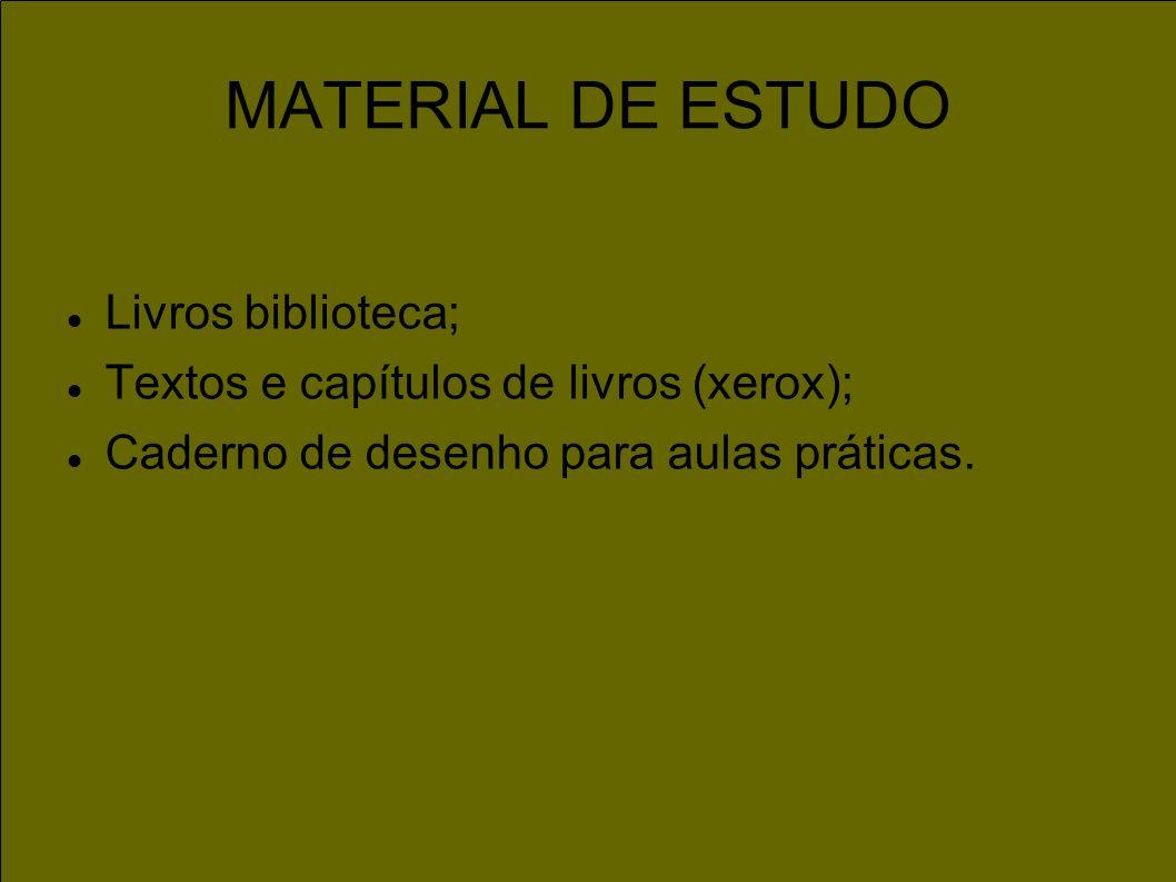 MATERIAL DE ESTUDO Livros biblioteca;
