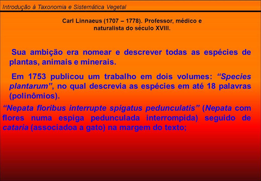 Introdução à Taxonomia e Sistemática Vegetal