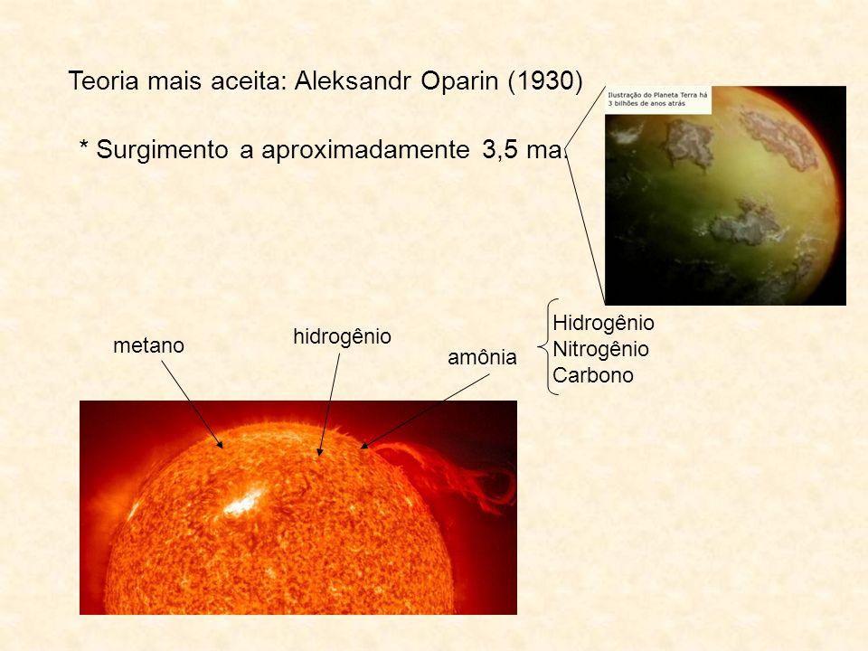 Teoria mais aceita: Aleksandr Oparin (1930)
