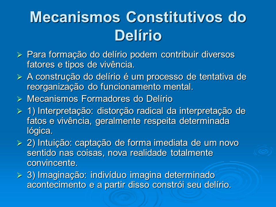 Mecanismos Constitutivos do Delírio
