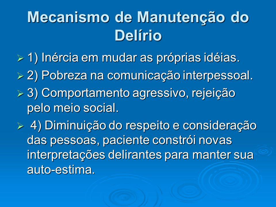 Mecanismo de Manutenção do Delírio