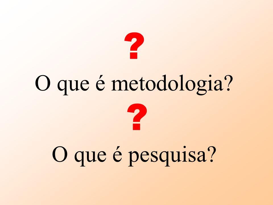 O que é metodologia O que é pesquisa