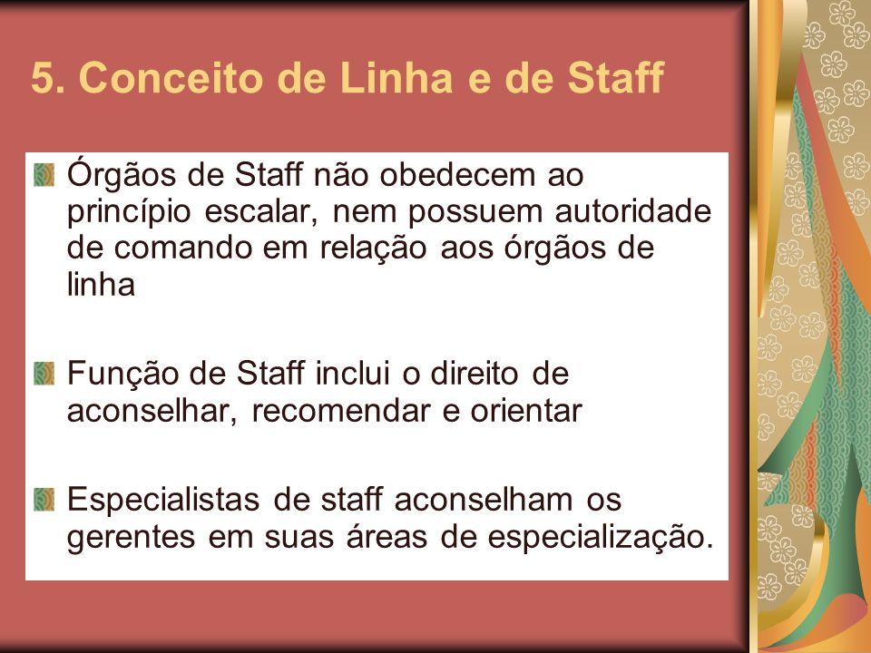 5. Conceito de Linha e de Staff