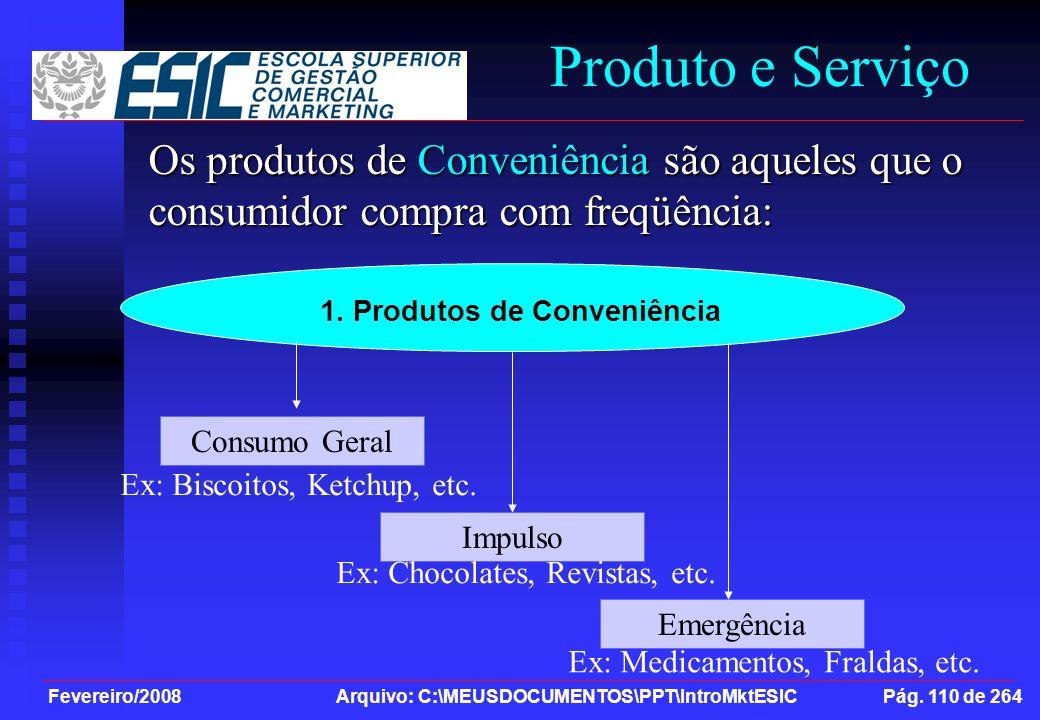 1. Produtos de Conveniência