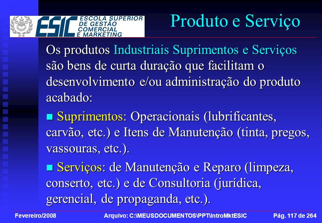 Produto e Serviço