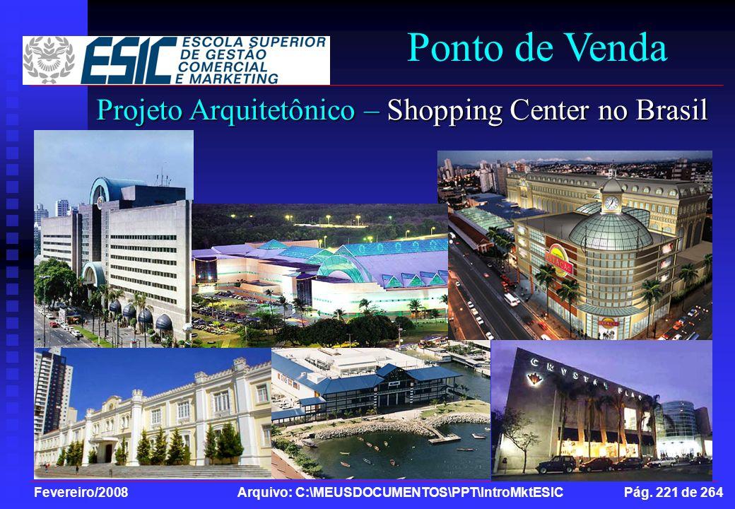 Ponto de Venda Projeto Arquitetônico – Shopping Center no Brasil