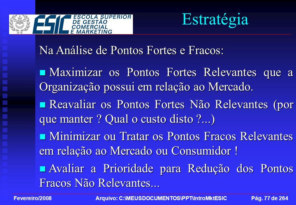 Estratégia Na Análise de Pontos Fortes e Fracos: