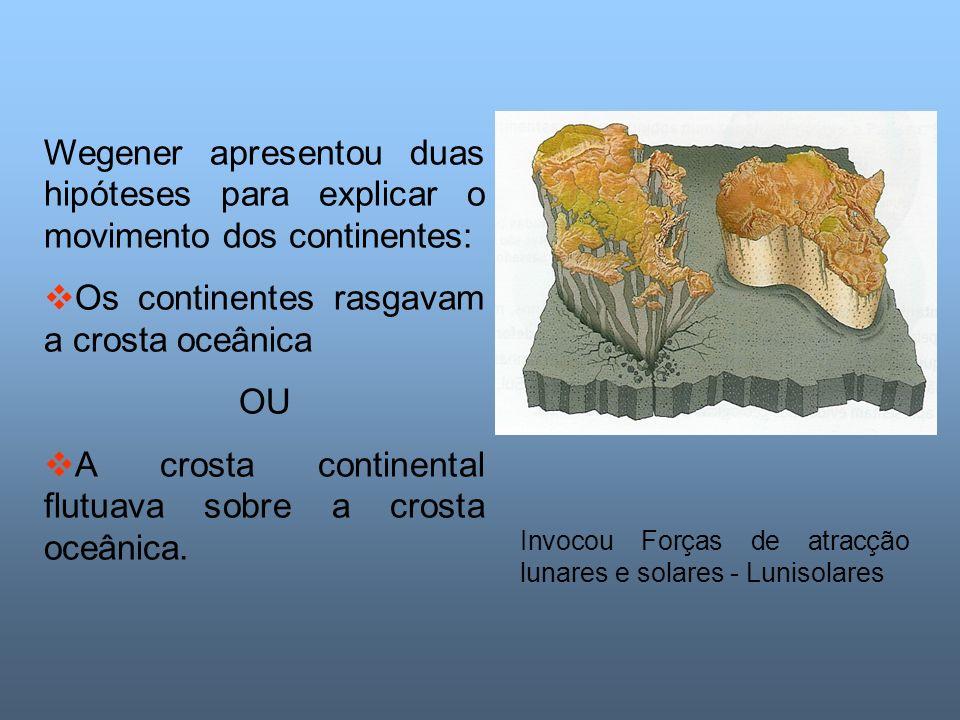 Os continentes rasgavam a crosta oceânica
