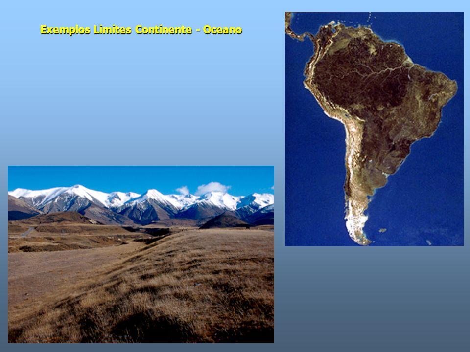 Exemplos Limites Continente - Oceano