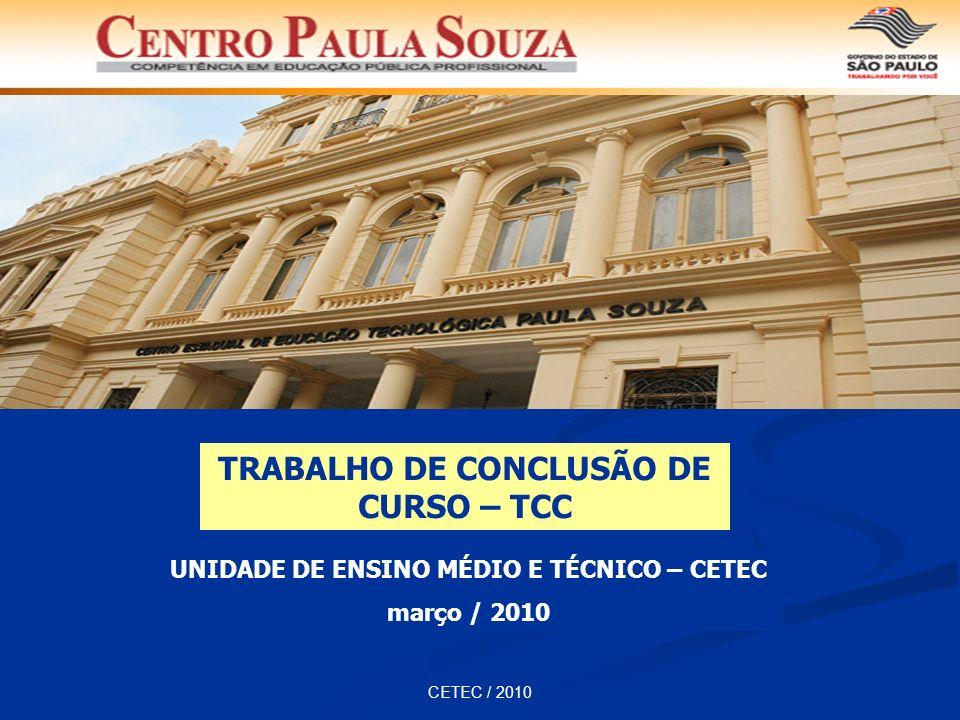TRABALHO DE CONCLUSÃO DE CURSO – TCC