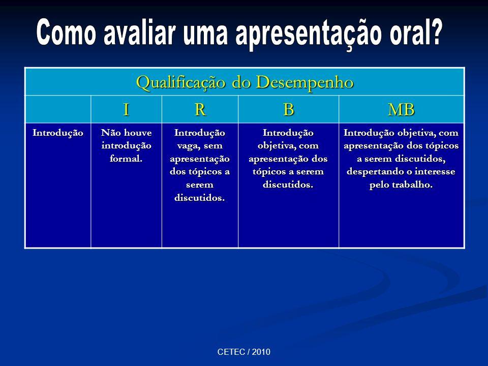 Como avaliar uma apresentação oral