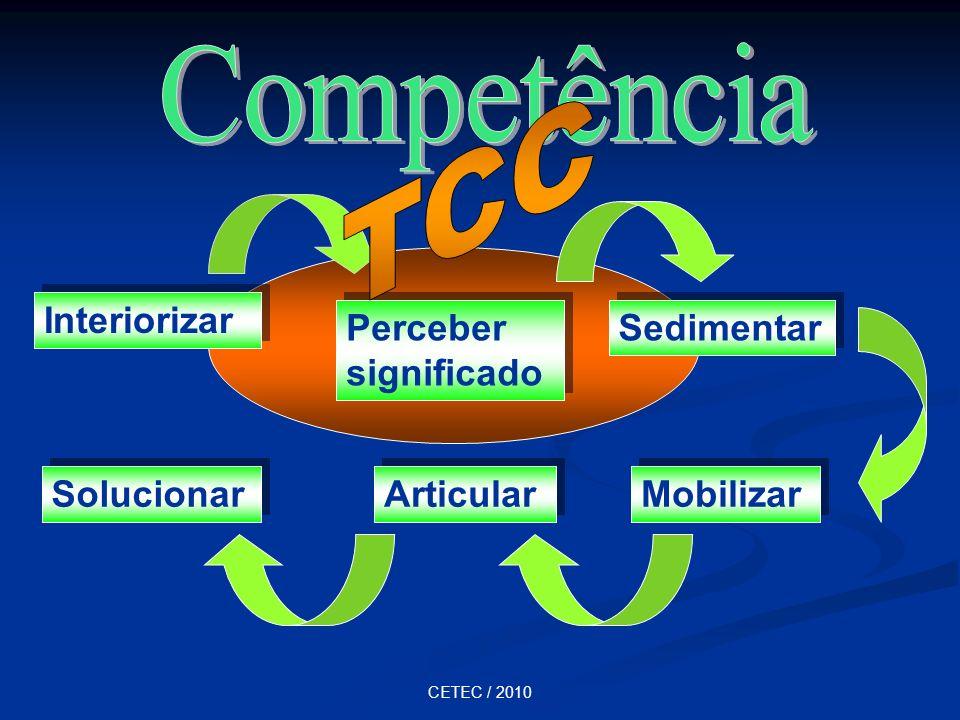 Competência TCC Interiorizar Perceber significado Sedimentar
