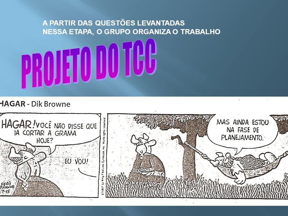 PROJETO DO TCC A PARTIR DAS QUESTÕES LEVANTADAS