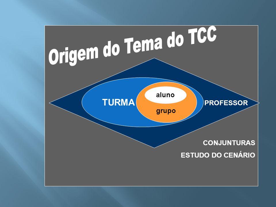 Origem do Tema do TCC TURMA PROFESSOR CONJUNTURAS ESTUDO DO CENÁRIO