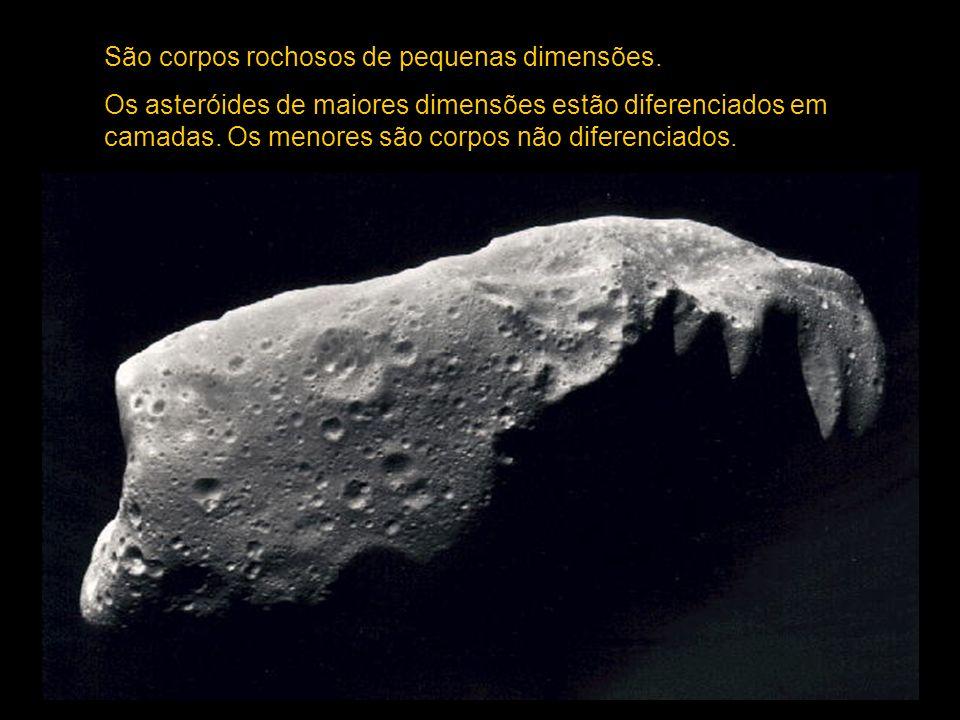 São corpos rochosos de pequenas dimensões.