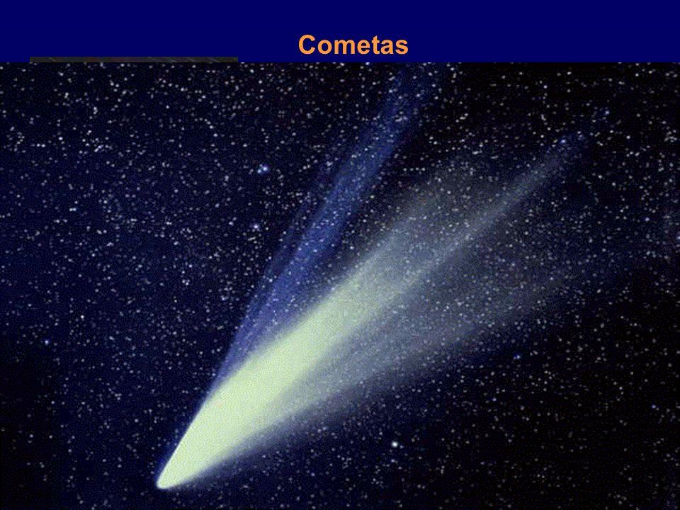 Cometas Podem ter origem na Cintura de Kuiper ou na nuvem de Cometas de Oort. Cometa Halley.