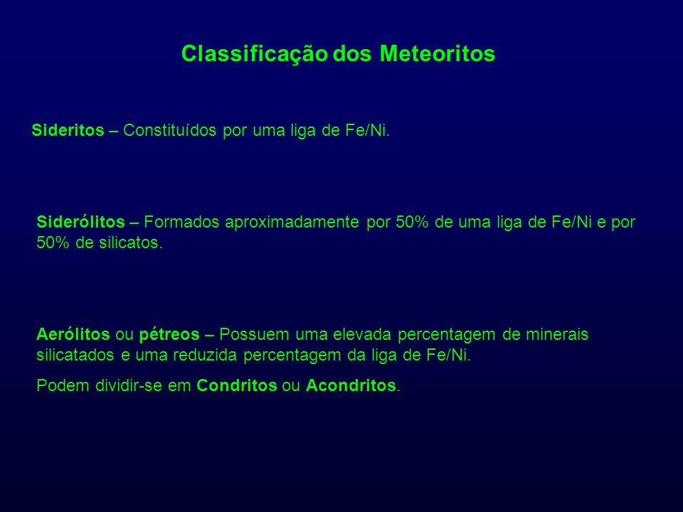 Classificação dos Meteoritos