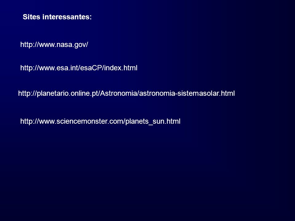 Sites interessantes: