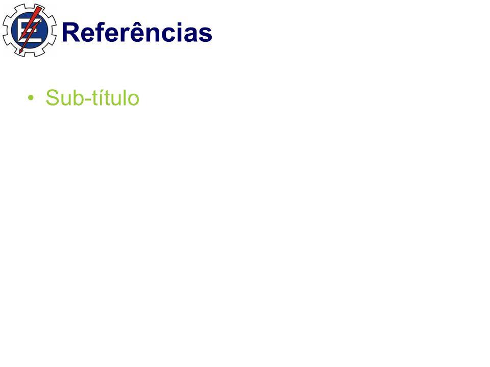 Referências Sub-título