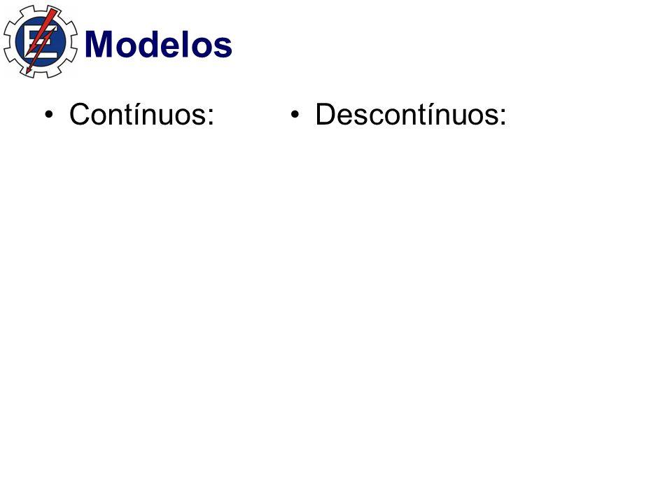 Modelos Contínuos: Descontínuos: