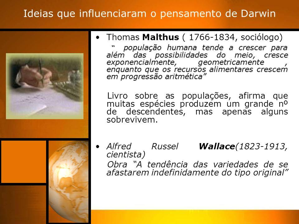 Ideias que influenciaram o pensamento de Darwin
