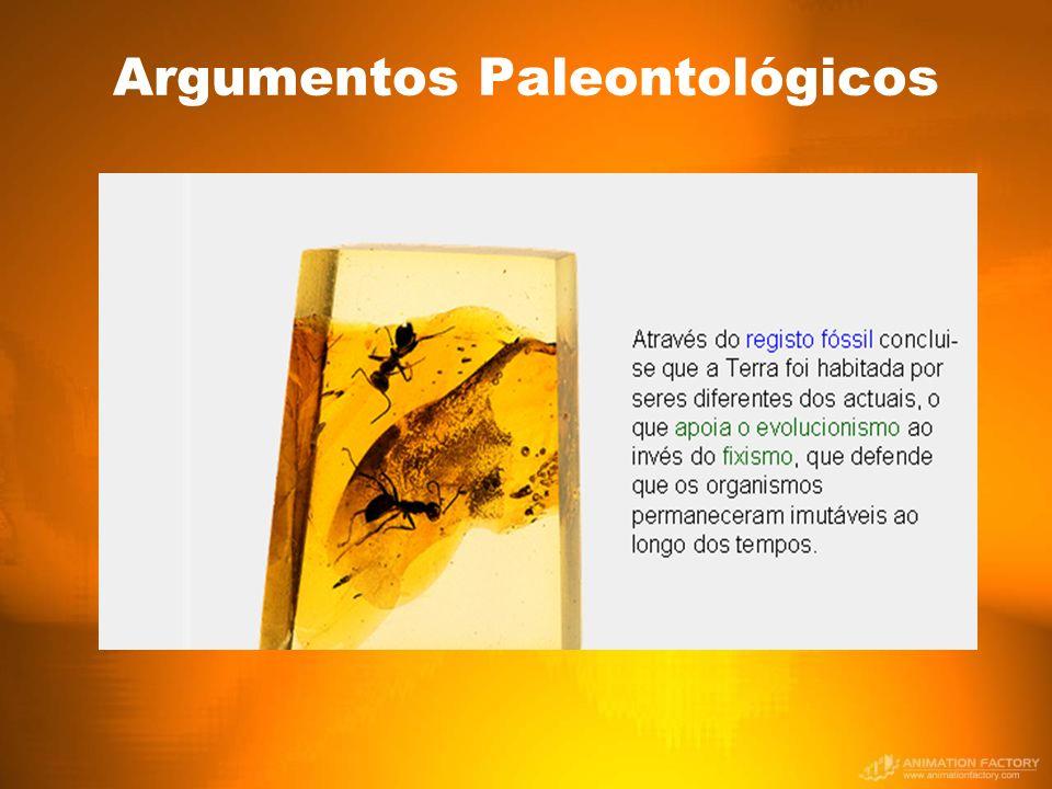 Argumentos Paleontológicos