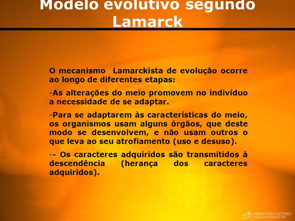 Modelo evolutivo segundo Lamarck