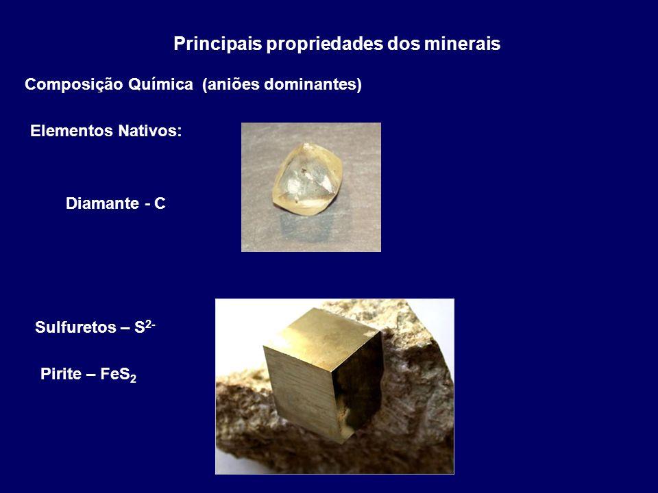 Principais propriedades dos minerais