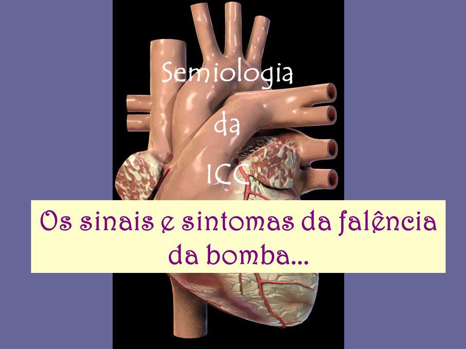 Os sinais e sintomas da falência da bomba...