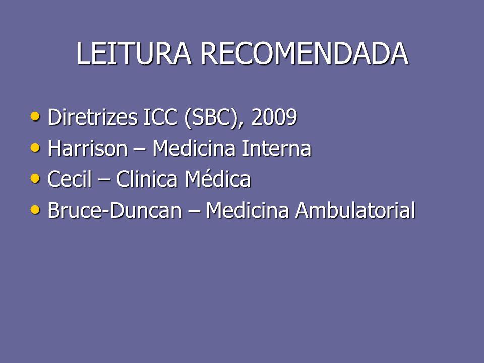 LEITURA RECOMENDADA Diretrizes ICC (SBC), 2009