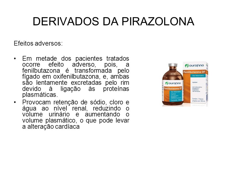 DERIVADOS DA PIRAZOLONA