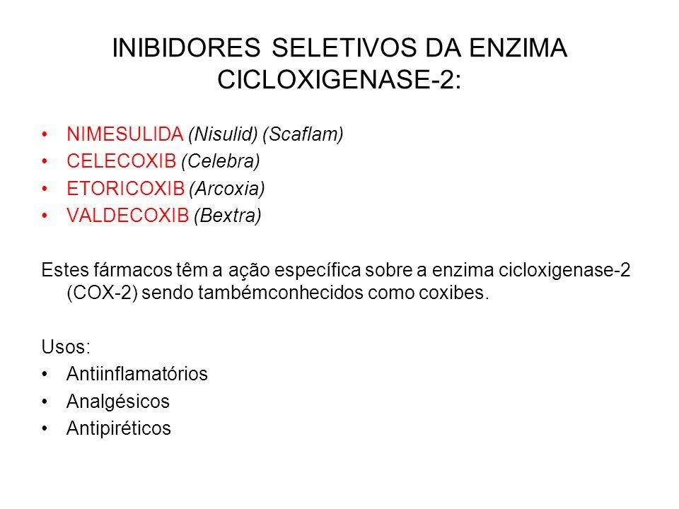 INIBIDORES SELETIVOS DA ENZIMA CICLOXIGENASE-2: