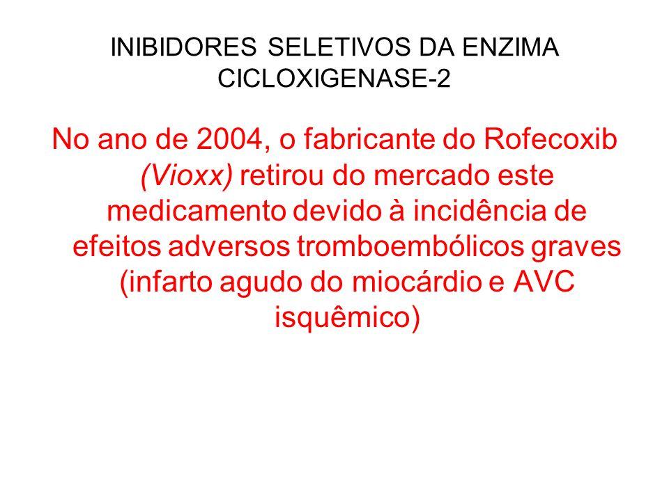 INIBIDORES SELETIVOS DA ENZIMA CICLOXIGENASE-2